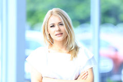 Modern business woman Royalty Free Stock Photos