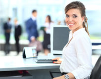 Modern business woman Royalty Free Stock Photo