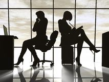 Modern business woman. In the office Royalty Free Stock Images