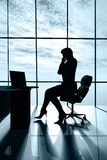 Modern business woman. In the office Royalty Free Stock Photography