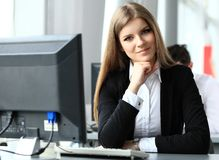 Modern business woman stock images