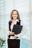 Modern business woman in the office with copy space,Business wom Stock Photography
