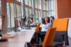 Modern business woman in the office Royalty Free Stock Photos