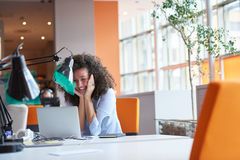 Modern business woman in the office Royalty Free Stock Images
