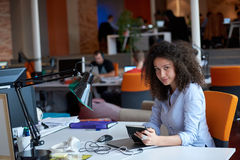 Modern business woman in the office Royalty Free Stock Photography