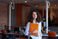 Modern business woman in the office Stock Image