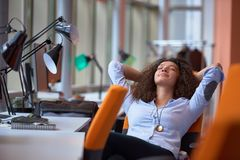 Modern business woman in the office Stock Photography