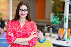 Modern business woman in the office Royalty Free Stock Photo