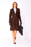 Modern business woman walking Stock Photos
