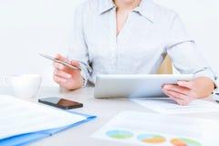 Modern business workflow royalty free stock photos