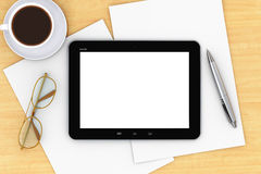Tablet computer on office table Royalty Free Stock Photo