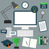 Modern business workspace in the office Royalty Free Stock Photos