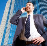 The modern businessman Royalty Free Stock Images
