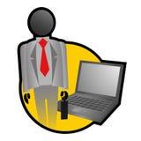 Modern businessman Stock Image