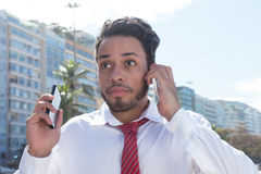 Modern businessman in action Stock Photo