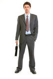 Modern businessman with briefcase Stock Image
