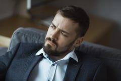 Modern Businessman. Confident Man in Suit. stock photo