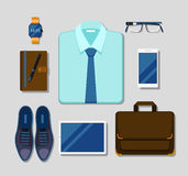 Modern businessman gadgets and accessories outfit Royalty Free Stock Image