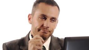 Modern businessman got idea stock video footage