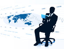 Modern businessman in office chair Royalty Free Stock Photo