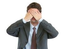 Modern businessman see no evil Stock Images