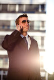 Modern businessman standing Stock Photography