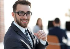 Free Modern Businessman Standing In Office. Stock Image - 126628441