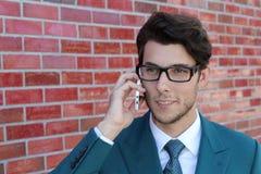 Modern Businessman talking on mobile phone Royalty Free Stock Photo