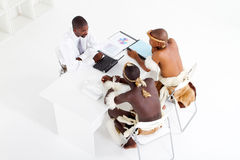 Modern businessman tribal clients Royalty Free Stock Photography