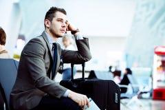 Modern businessman using tablet computer Stock Photos