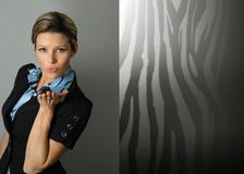 Modern businesswoman Stock Image