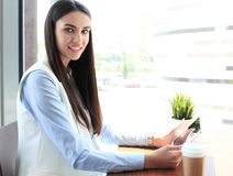 Modern businesswoman Stock Images