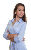 Modern businesswoman with long dark hair Royalty Free Stock Photography
