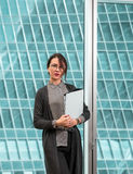 Modern businesswoman oinside the office building Royalty Free Stock Images