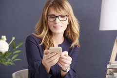 Modern businesswoman at work royalty free stock photos