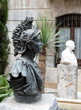 Modern bust of Hannibal Barca in Cartagena Stock Photos