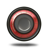 Modern Button Icon. A modern looking 3D button or icon isolated over white.  Great for use in web design or in custom application Royalty Free Stock Photo