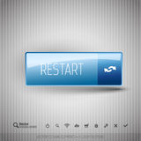 Modern button with icons set. Royalty Free Stock Image