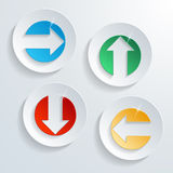 Modern button set. Modern button arrow direction set Stock Photos