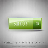Modern button with SUPPORT icons set. Stock Photos