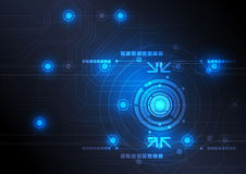 Modern button and technology background Royalty Free Stock Photo