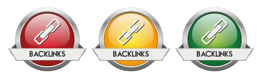 Modern Button Vector Backlinks. For the creative use in graphic design Royalty Free Stock Image