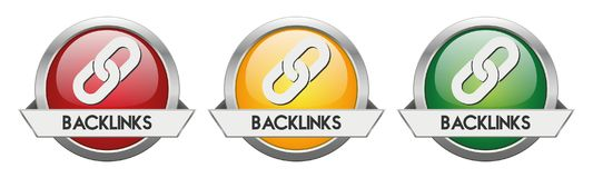 Modern Button Vector Backlinks. For the creative use in graphic design Stock Photo