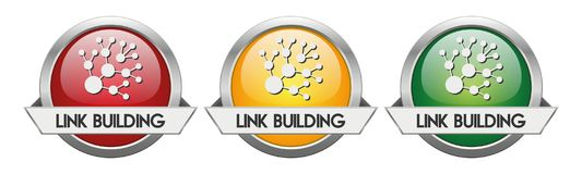 Modern Button Vector Link Building. For the creative use in graphic design Royalty Free Stock Photo