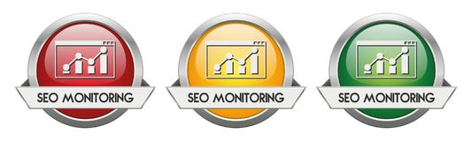 Modern Button Vector SEO Monitoring Royalty Free Stock Images