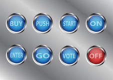 Modern buttons Royalty Free Stock Photo