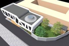 Modern byggande 3D Royaltyfria Foton