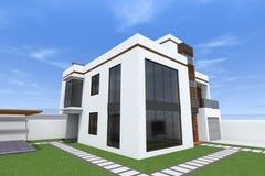 Modern byggande 3D Royaltyfri Bild