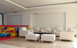 modern byggande lobby Arkivbild