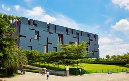 modern byggnad, Guangdong museum i Guangzhou, Kina Arkivfoto